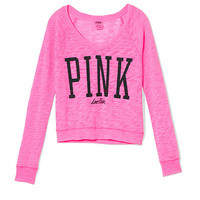 Shrunken V-neck Raglan Tee - PINK - Victoria's Secret