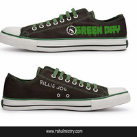 Green Day Warning All Star Converse Shoes
