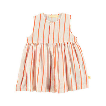 TinyCottons Pink Striped Summer Dress