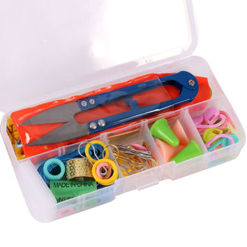 1 Set DIY Knitting Tools Set Crochet Hook Stitch Weave Supplied With Box Yarn Knit Home Knitting Accessories CY1