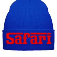 safari embroidery - Beanie Cuffed Knit Cap
