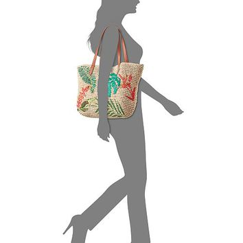 INC International Concepts I.N.C. Tropical Straw Tote, Created for Macy's Handbags & Accessories - Macy's