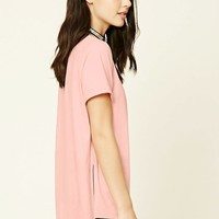 Faux Suede High-Low Tee