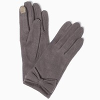 Text Tab Bow Gloves | Fashion Accessories - Cold Weather | charming charlie