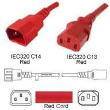 Unirise Usa, Llc Power Cord C13-c14 Svt 250v 10amp Red Jacket 4 Feet
