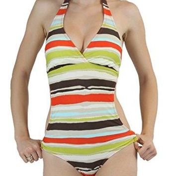 ToBeInStyle Womens One Piece Side Cut Out Padded Monokini Swimsuit