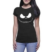 Jack Skellington Minimalistic Rc Tshirt for Women Black and White