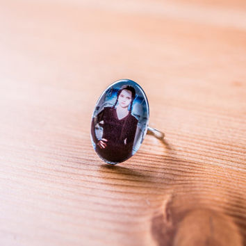 Ring Wednesday Addams / Addams Ring / jewelry Cabochon