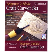 Flexcut SK111 Craft Wood Carving Beginner 2-Blade Set
