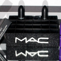 MAC Black and White Lipstick Holder Organizer