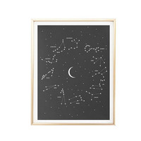 printable moon constellation zodiac chart map art print room decor Typographic Print framed quotes travel poster tumblr room decor 8x10