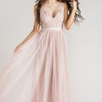 Audrey Blush Tulle Gown