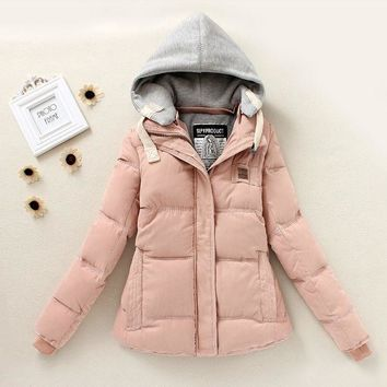Long-Sleeve Hooded Zipper Pocket Parka Coat Green [2974244289]