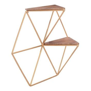 Zuo Triangles Shelf Gold