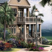 Beach House - nautical architectural ocean side cottage