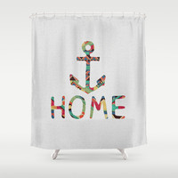 you make me home Shower Curtain by Bianca Green
