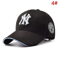 NY Fashion New Embroidery Letter Sunscreen Women Men Cap Hat 4#