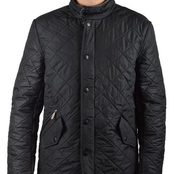 BARBOURPOWELL QUILTED JACKET - BLACK