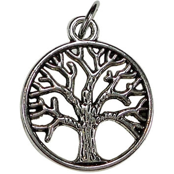 Tree Charm Silver Plate to add to Expandable Bangle Bracelet