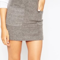 ASOS Wool Mix Pocket Mini Skirt