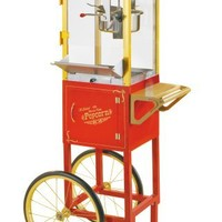 Nostalgia CCP510 53-Inch Tall Vintage Series 6-Ounce 24-Cup Kettle Commercial Popcorn Cart