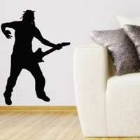 Wall Decals Vinyl Decal Sticker Rock Star Music with Guitar Art Design Room Nice Picture Decor Hall Wall Chu1308