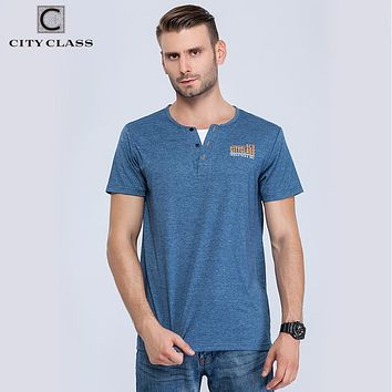 City class mens t-shirt tops tees fitness hip hop men cotton tshirts homme Fake two pieces clothing super big size 6160