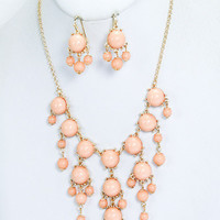 Mini Bubble Statement Necklace and Earrings