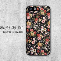Vintage Flowers iPhone 5 Case, iPhone 5s Case, iPhone 5 Cover, iPhone 5s Cover, iPhone Hard Case