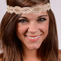The Gatsby Headband, Gold