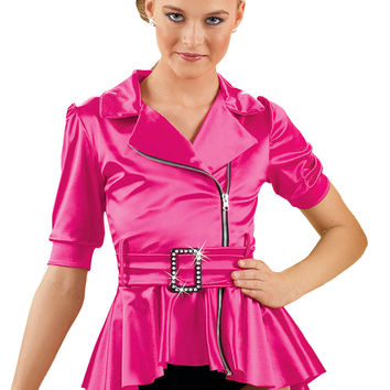 Neon High Low Peplum Jacket -Weissman Costumes