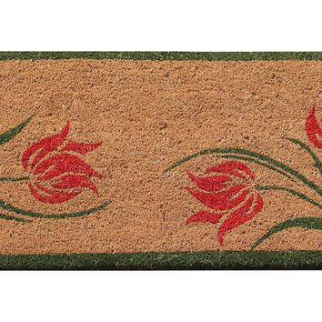 """First Impression Lily Coir All Season Entry Doormat, 18"""" X 30"""""""