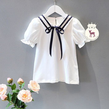 Puff Sleeve Sailor Collar dress