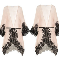 Women Sexy Sleepwear Chemise Kimono Sleep Nightie Gown Bath Robe Coat jacket = 1931630916