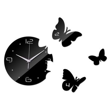 2017 New Europe Acrylic 3d Sticker Wall Stickers Home Decor Poster Mirror Wall Clock Large Still Life Kitchen Butterfly Horse