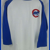 CHICAGO CUBS MAJESTIC 3/4 SLEEVE SHIRT BIG & TALL SIZES (2XL)