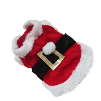 Factory Price LX0220 Pet Christmas Clothes Outwear Coat Apparel Puppy Dog Santa Claus Costume Hoodie Hot