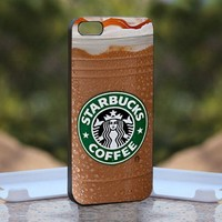 Starbucks Coffee, Print on Hard Cover iPhone 4/4S Black Case