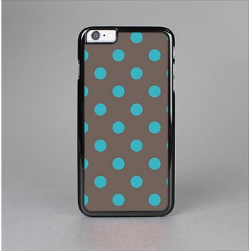 The Gray & Blue Polka Dot Skin-Sert for the Apple iPhone 6 Skin-Sert Case