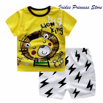 Baby Boy Outfit Set Summer 2017 Cute Newborn Baby Sets Infant Girl Clothing Suits Short Sleeve Cotton Toddler Boys Clothes 2pcs