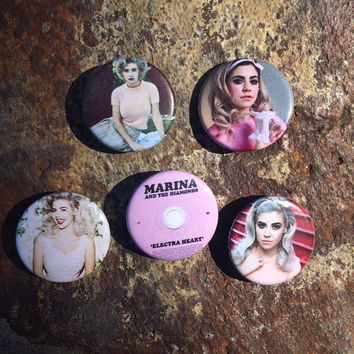 Marina and the diamonds Electra Heart pin set