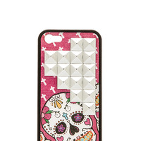 Wildflower Pink Sugar Skull Iphone 5/5S Case in Pink