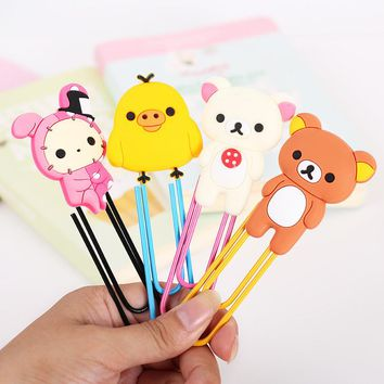 1 Pcs Kawaii Bear Series Bookmark Clip Memo Clip Paper Clip Bookmark Novelty Gift