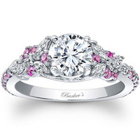 Barkev's Pink Sapphire Diamond Encrusted Petal Engagement Ring