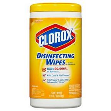 Clorox Disinfecting Wipes Citrus Blend 75 ct : Target