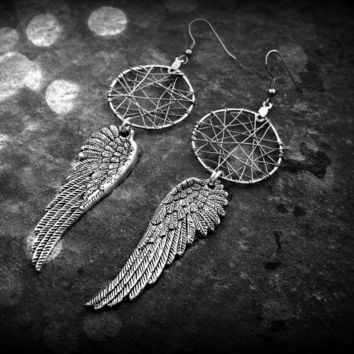Dream Catcher Earrings - wings