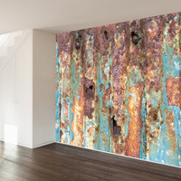 Paul Moore's Rusted Metal Mural wall decal