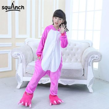 Kids Animal Kigurumi Cartoon Unicorn Onesuit Boy Girl Sleeping Pajama Children Festival Fancy Party Outfit Kawaii Funny Jumpsuit
