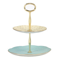 Polka Dot 2 Tiered Cake Stand