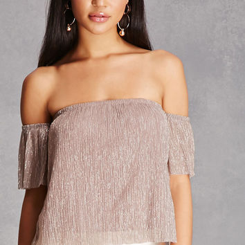 Lurex Off-the-Shoulder Top